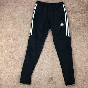 Adidas skinny fit black jogger pants size small